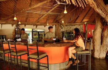 Thamalakane river lodge bar area
